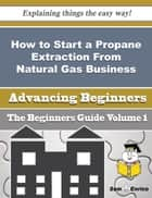 How to Start a Propane Extraction From Natural Gas Business (Beginners Guide) ebook by Carolynn Muniz