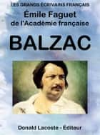 Balzac ebook by Émile Faguet