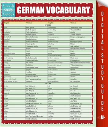 German Vocabulary (Speedy Study Guides) ebook by Speedy Publishing