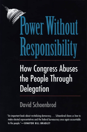Power Without Responsibility - How Congress Abuses the People through Delegation ebook by Professor David Schoenbrod
