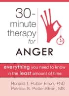 Thirty-Minute Therapy for Anger ebook by Ronald Potter-Efron, MSW, PhD,Patricia Potter-Efron, MS