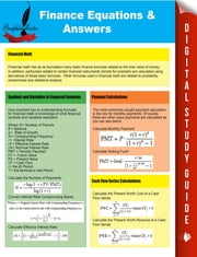 Finance Equations & Answers ebook by Pamphlet Master