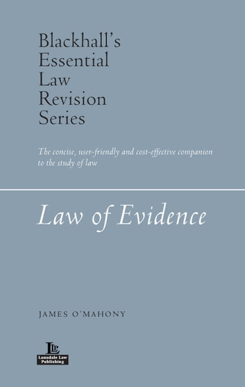 Law of Evidence ebook by James O'Mahony