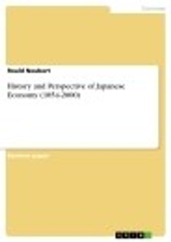 History and Perspective of Japanese Economy (1854-2000) ebook by Roald Neubert