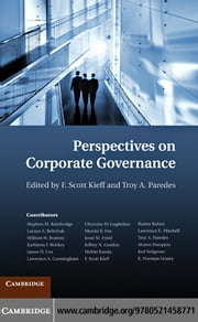 Perspectives on Corporate Governance ebook by Kieff, F. Scott