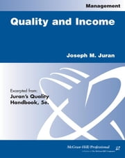 Quality and Income ebook by Juran, Joseph M