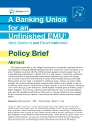 A Banking Union for an Unfinished EMU ebook by Hans Geeroms,Pawel Karbownik