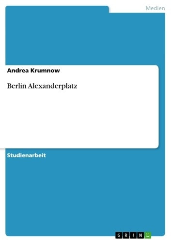 Berlin Alexanderplatz ebook by Andrea Krumnow
