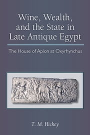 Wine, Wealth, and the State in Late Antique Egypt: The House of Apion at Oxyrhynchus ebook by Todd Hickey