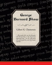 George Bernard Shaw ebook by Chesterton, Gilbert K.