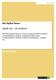 Apple Inc. - An Analysis - PESTEL analysis, Porter's 5 Forces analysis, SWOT analysis, Comprehensive analysis of financial ratios, and Comprehensive analysis of share performance of Apple Inc. ebook by Md. Rajibul Hasan