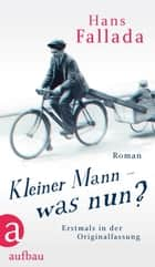Kleiner Mann – was nun? - Roman. Erstmals in der Originalfassung ebook by Hans Fallada, Carsten Gansel