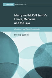 Merry and McCall Smith's Errors, Medicine and the Law ebook by Alan Merry, Warren Brookbanks