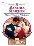 More Than a Mistress ebook by Sandra Marton