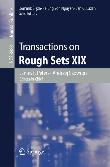 Transactions on Rough Sets XIX ebook by
