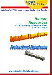 Human Resources 2015 Directory of Search Firms and Recruiters ebook by Jane Lockshin