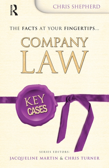 Key Cases: Company Law ebook by Christopher Shepherd