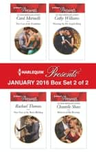 Harlequin Presents January 2016 - Box Set 2 of 2 - The Cost of the Forbidden\New Year at the Boss's Bidding\Wearing the De Angelis Ring\Mistress of His Revenge ebook by Carol Marinelli, Rachael Thomas, Cathy Williams,...