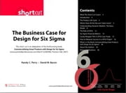 Business Case for Design for Six Sigma (Digital Short Cut) The ebook by Randy C. Perry,David W. Bacon