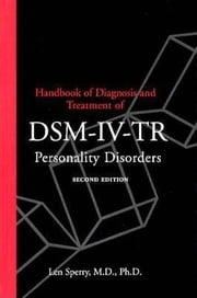 Handbook of Diagnosis and Treatment of Dsm-IV Personality Disorders ebook by Sperry, Len