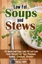 Low Fat Soups and Stews: 45 Quick and Easy Low Fat and Low Carb Recipes for Your Pressure Cooker, Crockpot, Blender - Low Fat Recipes & Comfort Food eBook by Sheila Hope