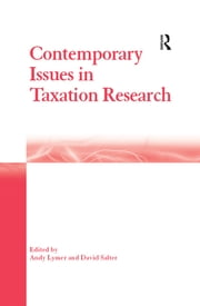 Contemporary Issues in Taxation Research