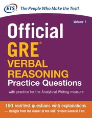 Official GRE Verbal Reasoning Practice Questions ebook by Educational Testing Service