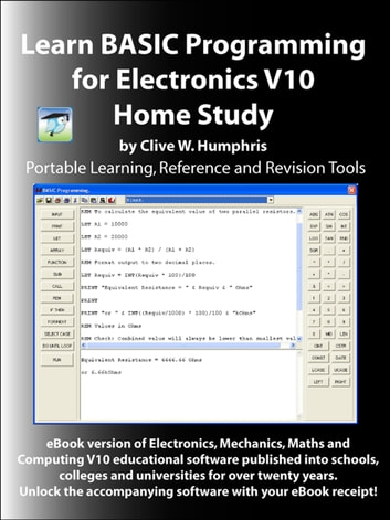Learn BASIC Programming for Electronics V10 ebook by Clive W. Humphris