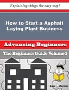 How to Start a Asphalt Laying Plant Business (Beginners Guide) ebook by Phillis Ervin