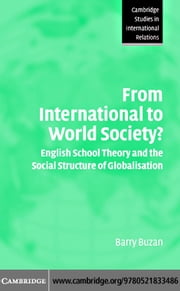 International to World Society ebook by Buzan, Barry