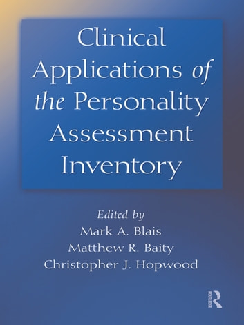 clinical applications of the personality assessment inventory ebook