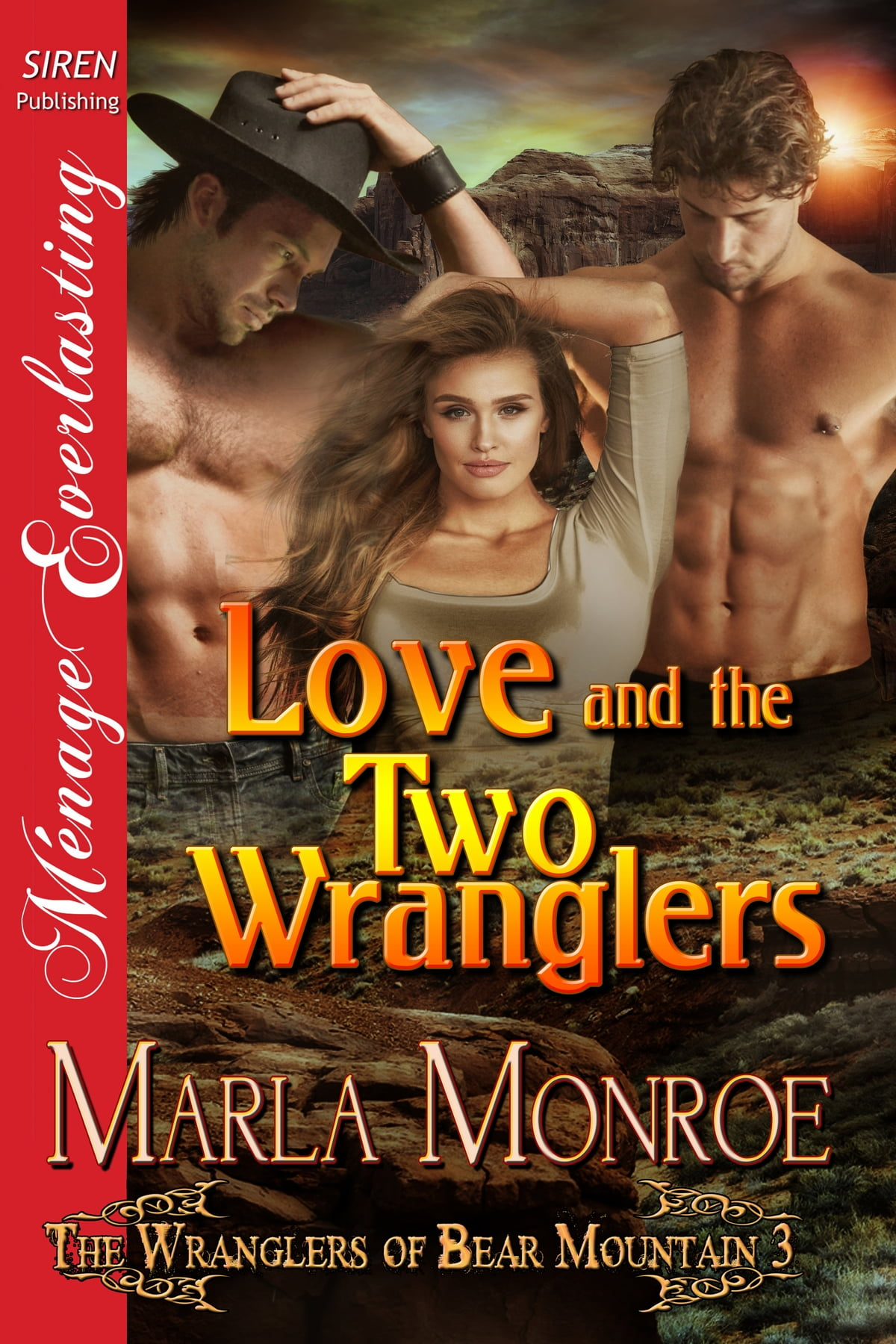 their border l ands gift siren publishing menage everlasting monroe marla