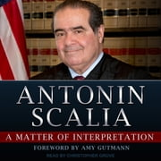 A Matter of Interpretation - Federal Courts and the Law audiobook by Antonin Scalia