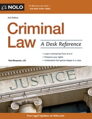 Criminal Law - A Desk Reference ebook by Paul Bergman