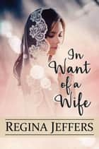 In Want of a Wife - A Pride and Prejudice Vagary ebook by