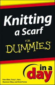 Knitting a Scarf In A Day For Dummies ebook by Allen,Shannon Okey