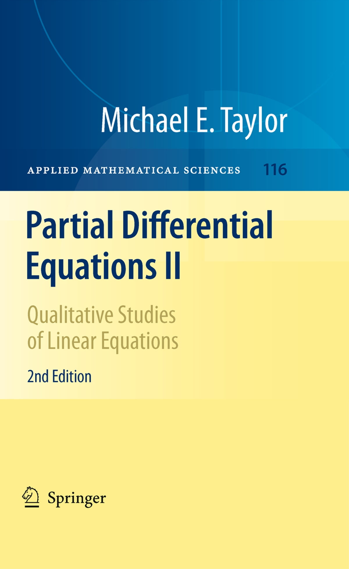 Partial Differential Equations II eBook by Michael E. Taylor -  9781441970527 | Rakuten Kobo