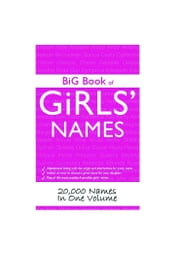 Big Book of Girls' Names: 20,000 Names in One Volume ebook by Ward John