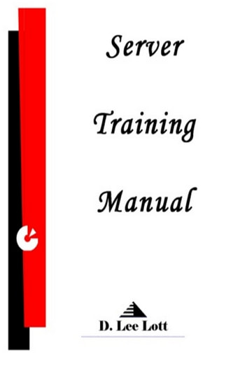 Server Training Manual Ebook By D Lee Lott