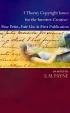 3 Thorny Copyright Issues for the Internet Creative: Fine Print, Fair Use & First Publication ebook by S. M. Payne