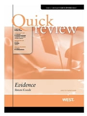 Quick Review of Evidence, 6th ebook by Steven Goode