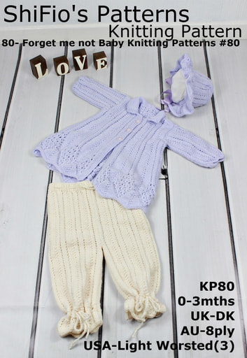 80- Forget me not Baby Knitting Patterns #80 ebook by ShiFio's Patterns