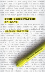 From Dissertation to Book, Second Edition ebook by William Germano