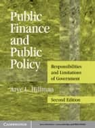 Public Finance and Public Policy ebook by Arye L. Hillman