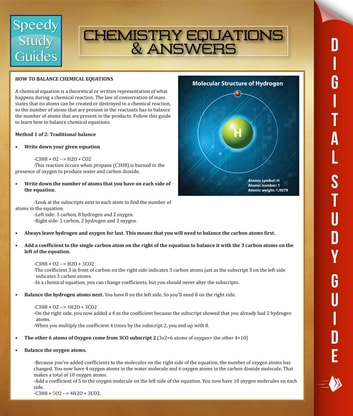 Chemistry Equations & Answers - Speedy Study Guides ebook by Speedy Publishing