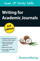 Writing For Academic Journals ebook by Rowena Murray