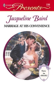 Marriage at His Convenience ebook by Jacqueline Baird