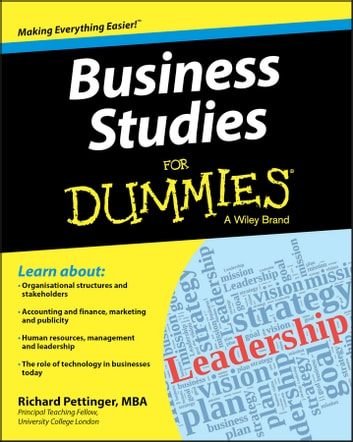 Business Studies For Dummies ebook by Richard Pettinger