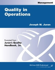 Quality in Operations ebook by Juran, Joseph M