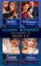Modern Romance September 2016 Books 5-8 (Mills & Boon e-Book Collections) ekitaplar by Carol Marinelli, Michelle Conder, Dani Collins,...